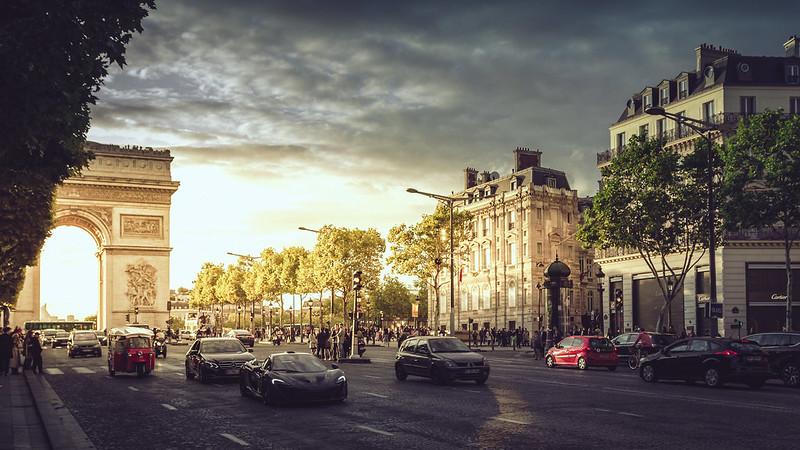 Champs-Elysees-e-Arc-de-Triomphe